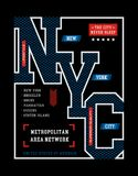 Typography Design New York City T-shirt Graphic. Typography Design New York City , T-shirt Graphic, Vector Images Royalty Free Stock Images