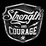 Typography Design With Quote Strength And Courage stock illustration