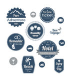 Typography design of travel and cruise tours Royalty Free Stock Photography