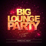 Typography Disco background. Big lounge party Stock Photo