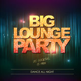 Typography Disco background. Big lounge party Stock Photo