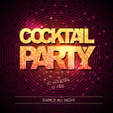 Typography Disco background. Cocktail party Stock Image