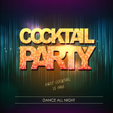 Typography Disco background. Cocktail party Stock Photo