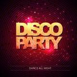 Typography Disco background. Disco party. Stock Image