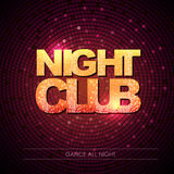 Typography Disco background. Night club Royalty Free Stock Image