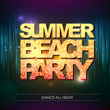 Typography Disco background. Summer beach party Royalty Free Stock Image