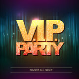 Typography Disco background. V.I.P. party Royalty Free Stock Images