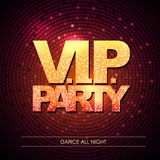Typography Disco background. V.I.P. party Stock Photos