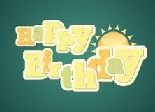Typography do feliz aniversario do estilo do vintage Imagem de Stock Royalty Free