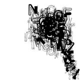 Typography do vetor Fotos de Stock