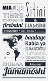 Typography with elements of infographics. And icons Royalty Free Stock Photos