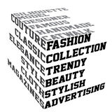 Typography with fashion terms Stock Image