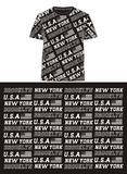 New york brooklyn american flag, t shirt graphic, vectors Royalty Free Stock Image