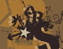 Typography Grunge Background Stock Image