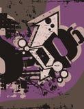 Typography Grunge Background Stock Photography