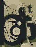 Typography Grunge Background royalty free illustration