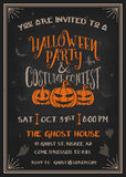 Typography Halloween Party and costume contest Invitation card Royalty Free Stock Image