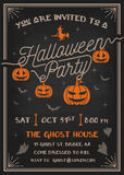 Typography Halloween Party Invitation card design Royalty Free Stock Photos