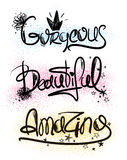 Typography Handlettering Inspirational Words. Stock Image