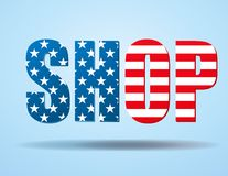 Typography Internet Logo USA shop Stock Image