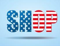 Typography Internet Logo USA shop Stock Image