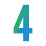 Typography. Isolated typography of a number, Vector illustration Royalty Free Stock Image