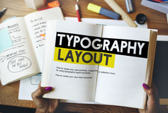 Typography Layout Ideas Creativity Design Element Concept Royalty Free Stock Images