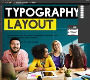 Typography Layout Ideas Creativity Design Element Concept Royalty Free Stock Photo