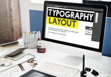 Typography Layout Responsive Design Creative Concept Royalty Free Stock Images