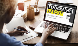 Typography Layout Responsive Design Creative Concept Stock Photography