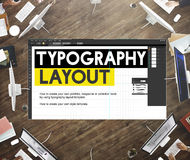 Typography Layout Responsive Design Creative Concept Stock Image