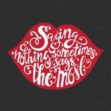 Typography Lips Royalty Free Stock Photo
