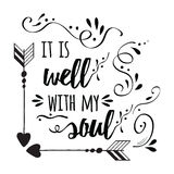 Typography motivational print with quote about soul. royalty free illustration