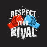 Typography Motivational slogan quote Boxing Tee Print design for t shirt printing. Typography Motivational slogan quote  Boxing Tee Print  design  for t shirt Royalty Free Stock Images