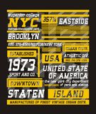 02. Typography New York City , vector. Typography New York City, screen printing vector easy on color separation, t shirt , poster festival Royalty Free Stock Photos