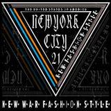 Typography New york Tee Logo Design. Fashion style royalty free illustration