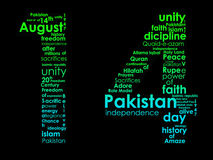 Typography of Pakistani independence day Stock Photos