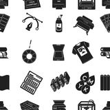Typography pattern icons in black style. Big collection of typography vector symbol stock illustration Stock Photos