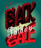 Typography poster. Black Friday. Vector illustration. Typography poster Royalty Free Illustration