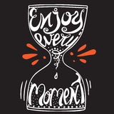 Typography poster -  enjoy every moment Royalty Free Stock Photography