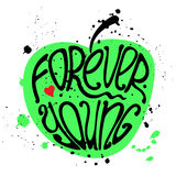 Typography poster Forever Young Royalty Free Stock Images