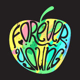 Typography poster Forever Young Stock Photos