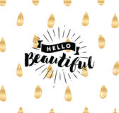 Typography for poster, invitation, greeting card or t-shirt. Royalty Free Stock Image
