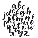 Typography poster with lowercase english alphabet Royalty Free Stock Image