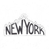 Typography poster. New York vintage hand drawn lettering poster. Vector typography concept. T-shirt design or home decor element. Hand crafted vector Stock Images