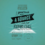 Typography retro bookstore poster design. Vector illustration. Stock Images
