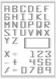 Typography set . blend fade design typography number and math symbols Stock Photo