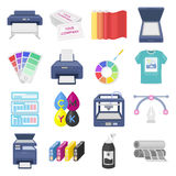 Typography set icons in cartoon style. Big collection of typography vector symbol stock illustration Stock Images