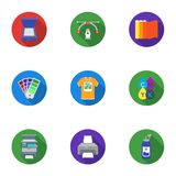 Typography set icons in flat style. Big collection of typography vector symbol stock illustration Royalty Free Stock Images