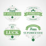 Typography St. Patricks Day. Vector illustration Royalty Free Stock Photography